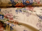 Natural Cotton Floral Fabric # UU-20