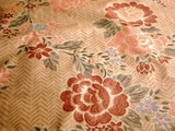 Cotton Chintz Floral Print Fabric Tan # UU-41