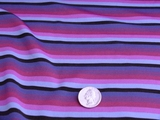 Italian Colorful Stripes 4 ways Stretch Knit Fabric #UU-92