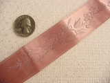 Pink Delicate Floral Satin Jacquard Ribbon #-WR-233