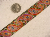 Colorful Large Paisley Jacquard Ribbon #-WR-97
