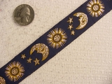Celestial on Navy Jacquard Ribbon #-WR-85