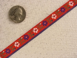 Mini Country Floral Jacquard Ribbon #-WR-88