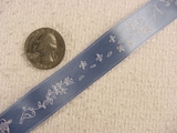 Beautifully Delicate Floral on Pale Blue Jacquard Ribbon #-WR-159