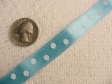 White Polka Dot on Light Blue Satin Jacquard Ribbon #-WR-164