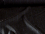 Pinstriped Navy Wool Suiting Fabric # WL-104