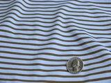 Blue Olive Stripes 4 ways Stretch Knit Fabric #UU-101