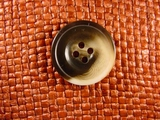 (36pcs) 4 holes Italian Buttons 1 inch Brown #bag-211