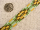 Vintage Green/Yellow Multi Pattern Ribbon #-WR-330