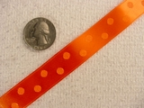 Orange Satin Polka Dot Jacquard Ribbon #-WR-141