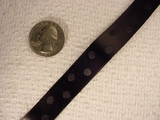 Black Satin Polka Dot Jacquard Ribbon #-WR-145