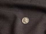 Black Tan Blue Italian Wool Suiting Fabric #UU-66