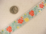 Vintage Country Rose on White Ribbon #-WR-430