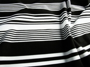 High-end Super Quality 4 way stretch Black White Striped Spandex Knit Fabric # K-641