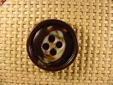 Designer 4 hole Buttons 1 1/8 inches Brown #Bpiece-261