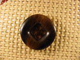 4 holes Italian Buttons 1 1/8 inches Dark Brown #Bpiece-268