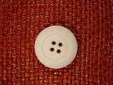Designer 4 hole Buttons from Italy 1 1/8 inches White #Bpiece-308