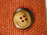 Italian Designer 4 hole Buttons 1 3/8 inches Brown #Bpiece-310