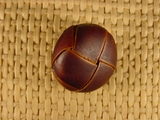 (52pcs) Leather Shank Buttons 7/8 inch Brown #bag-74