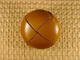 (25pcs) Leather Shank Buttons 1 1/8 inch Brown #bag-76