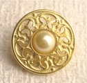 Elegant Metal Button with Pearl #BU-1