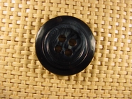 Italian 4 hole Buttons 1 1/8 inches Black Green #Bpiece-225
