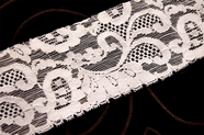 "2 3/4"" White Floral Stretch Lace Trim #1125"