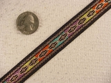 Metallic Multi Colored Jacquard Ribbon #-WR-70
