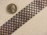 Silver and Gold Metallic Evening Wear Jacquard Ribbon #-WR-59