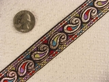 Rich Metallic Paisley Designed Jacquard Ribbon #-WR-57