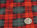 Red & Green Rayon Challis Christmas Plaid Fabric #K-145