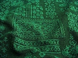 Teal Green Black Novelty Stretch Knit Fabric