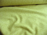 Textured White / Green Wool Flannel Fabric # WL-174