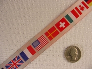 Flag Jacquard Ribbon #WR-9