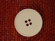 Designer 4 hole Buttons from Italy 1 1/2 inches Off White #Bpiece-284