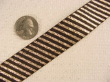 Cool Metallic/Black Diagonal Stripe Jacquard Ribbon #-WR-194