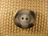 2 hole Italian Buttons 1 inch X 7/8 inch Grey #Bpiece-344
