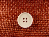 4 hole Italian Buttons 13/16 inch Off White #Bpiece-373