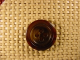 4 hole Italian Buttons 7/8 inch Dark Brown #Bpiece-391