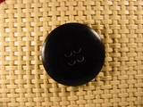 Designer 4 hole Buttons 1 inch Black #Bpiece-392