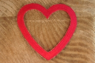 Dark Pink Heart Shape Iron On Applique # appliques-1079