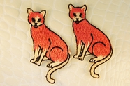 Rustic Red Cat Iron-On Applique #appliques-7