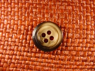 4 hole Italian Buttons 13/16 inch Brown #Bpiece-335