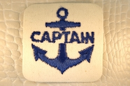 Vintage Captain Anchor Navy Off-White Applique #appliques-18
