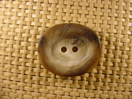 2 hole Italian Buttons 1 inch X 7/8 inch Brown #Bpiece-345