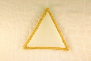 Gold Metallic Cream Triangle Applique #appliques-44