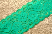 """3 1/2"""" Spring Green Floral Galloon Lace Trim #1009"""
