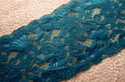 "5 1/4"" Teal Galloon Lace Trim #1010"