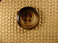 4 holes Italian Buttons 1 inch Brown #Bpiece-387
