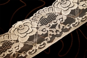 "3 1/4"" Off White Floral Raschel Lace Trim #1111"